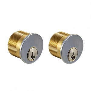 Discount Door Hardware Satin Chrome Mortise Cylinders