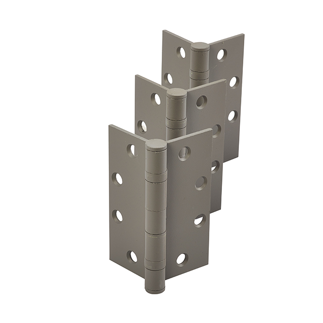 """Universal BB183 NRP CP Ball Bearing Non-Removable Pin Hinges – 4 1/2″ x 4"""" – Prime Coated (Set of 3)"""