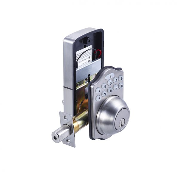 Electronic Keypad Deadbolt Satin Nickel Discount Door