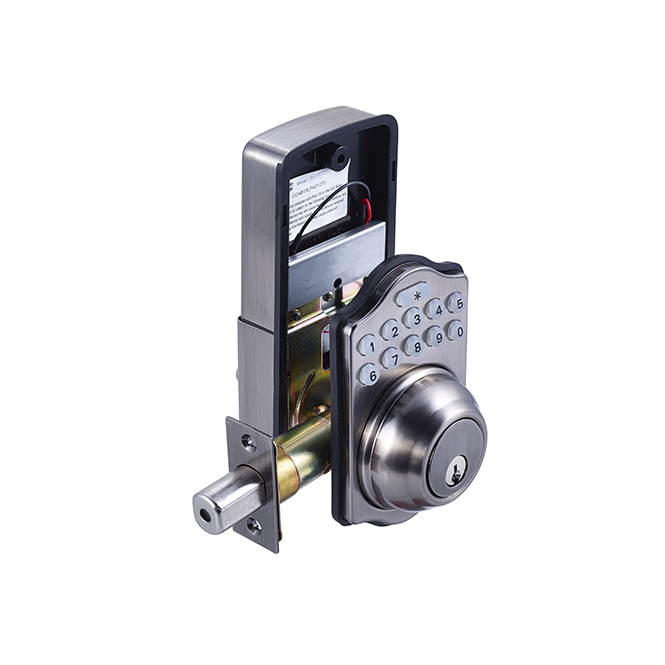 Electronic Keypad Deadbolt – Traditional – Antique Nickel