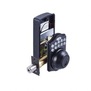Discount Door Hardware Matte Black Electronic Deadbolt