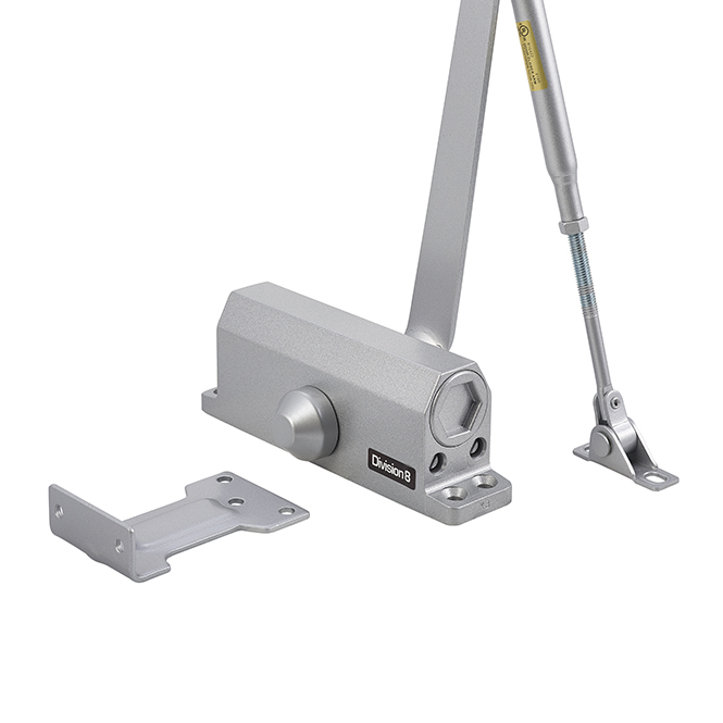 Division 8 303 AL Economy Door Closer – Size 3 – Aluminum Powder Coated