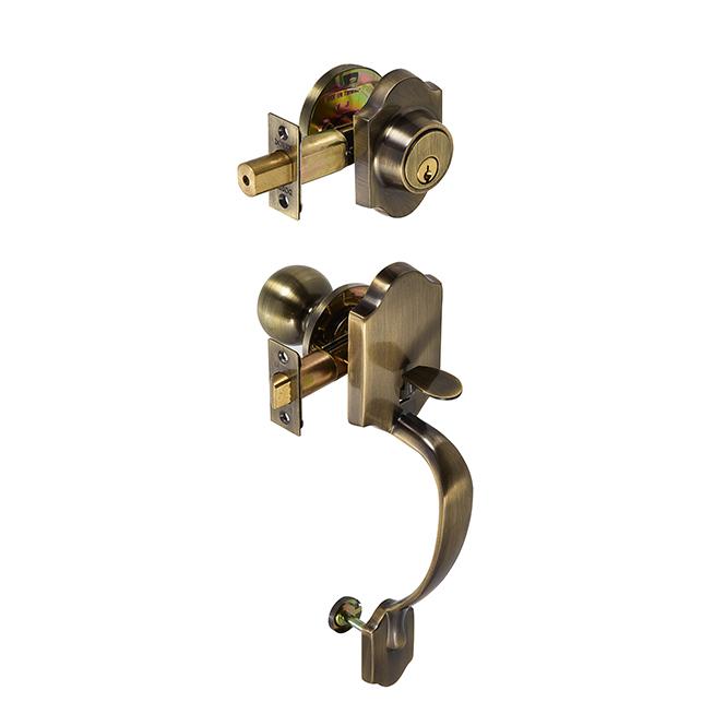 Dorex Imperial Gripset Antique Brass Discount Door
