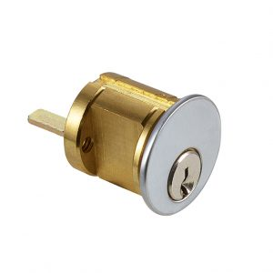 Discount Door Hardware Satin Chrome Rim Cylinder