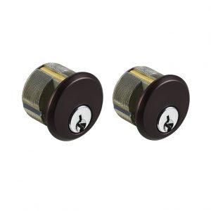 Discount Door Hardware Dark Brown Mortise Cylinders
