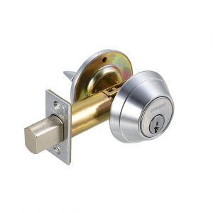 Discount Door Hardware Satin Chrome Commercial Deadbolt