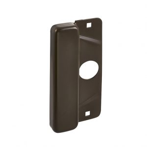 Discount Door Hardware Dark Brown Latch Protector Plate