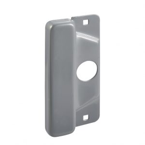 Discount Door Hardware Silver Latch Protector Plate
