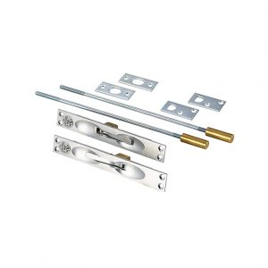 Discount Door Hardware ULC Satin Chrome Flush Bolts