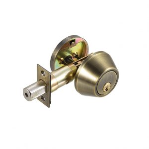 Discount Door Hardware Antique Brass Deadbolt