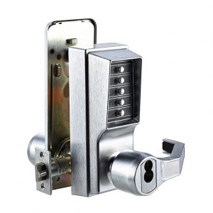 Discount Door Hardware Mechanical Pushbutton Lock - Front