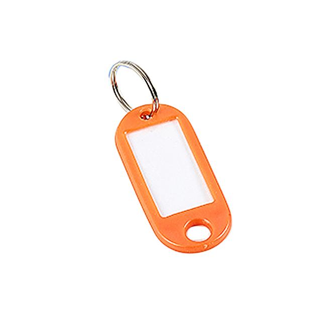 Keyline Plastic ID Key Tags With Label – 100 Pack – Orange