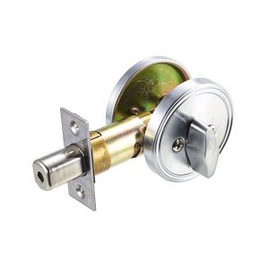 Discount Door Hardware Satin Chrome One-Sided Deadbolt