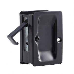 Discount Door Hardware Matte Black Pocket Door Passage Lock