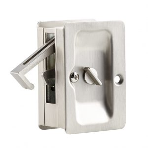 Discount Door Hardware Satin Nickel Pocket Door Privacy Lock