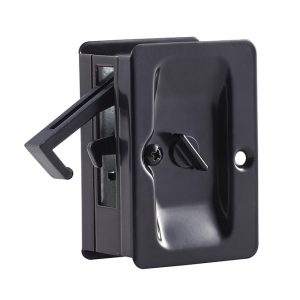 Discount Door Hardware Matte Black Pocket Door Privacy Lock