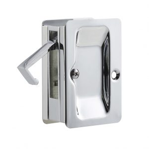 Discount Door Hardware Polished Chrome Pocket Door Passage Lock