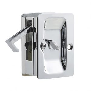 Discount Door Hardware Polished Chrome Pocket Door Privacy Lock