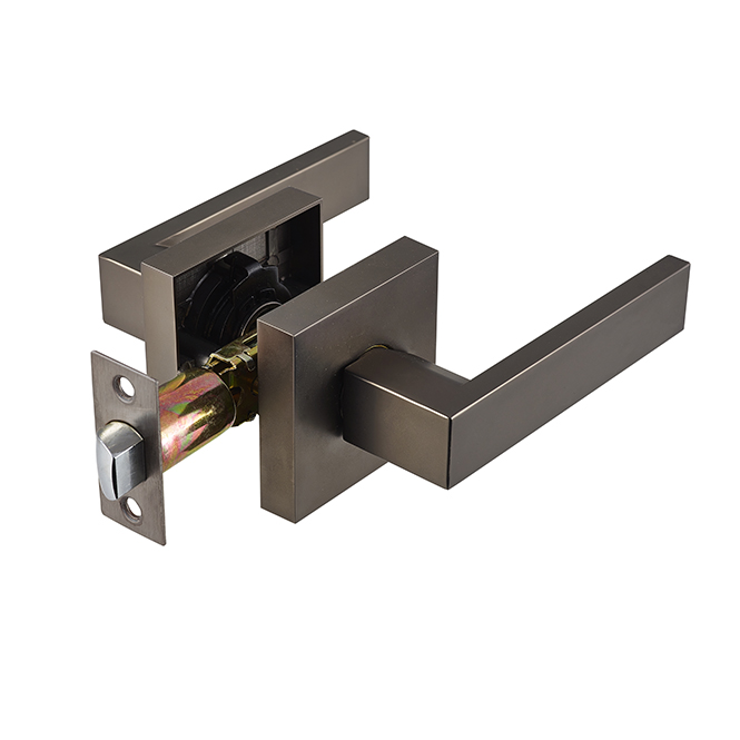 Discount Door Hardware Electroplated Cobalt Nickel Passage Lever