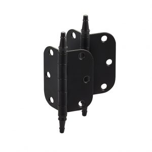 Discount Door Hardware Steeple Tip Matte Black Radius Hinges