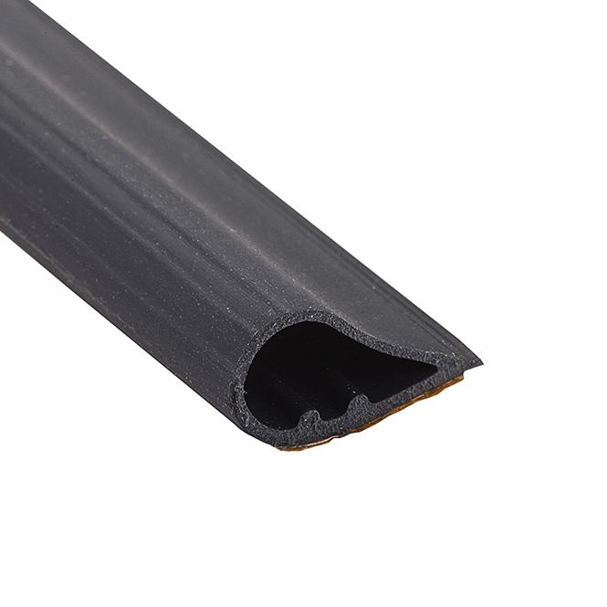 KN Crowder W22 Smoke Seal Silicone Weatherstrip Gasketing – 25'0″ Roll – Black