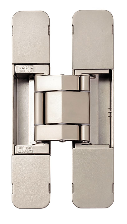 Sugatsune HES3D-E190 DN Heavy-Duty Concealed Hinges – Dull Nickel (Set of 2)