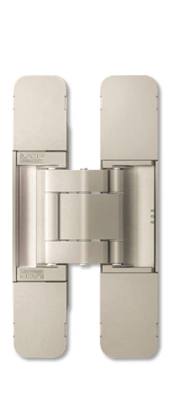Sugatsune HES3D-120 DN Medium-Duty Concealed Hinges – Dull Nickel (Set of 2)