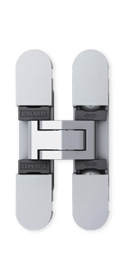 Sugatsune HES3D-70 DC Light-Duty Concealed Hinges – Dull Chrome (Set of 2)