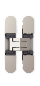 Sugatsune HES3D-70 DN Light-Duty Concealed Hinges – Dull Nickel (Set of 2)