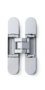 Sugatsune HES3D-90 DC Light-Duty Concealed Hinges – Dull Chrome (Set of 2)