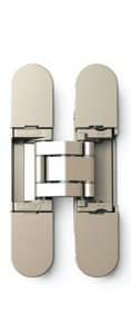 Sugatsune HES3D-90 DN Light-Duty Concealed Hinges – Dull Nickel (Set of 2)