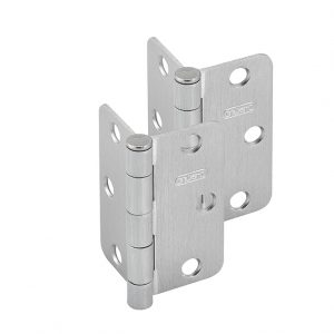 Discount Door Hardware Satin Chrome Radius Hinges