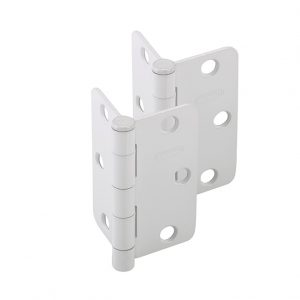 Discount Door Hardware White Radius Hinges