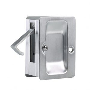 Discount Door Hardware Satin Chrome Pocket Door Passage Lock