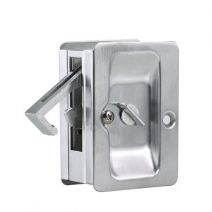 Discount Door Hardware Satin Chrome Pocket Door Privacy Lock