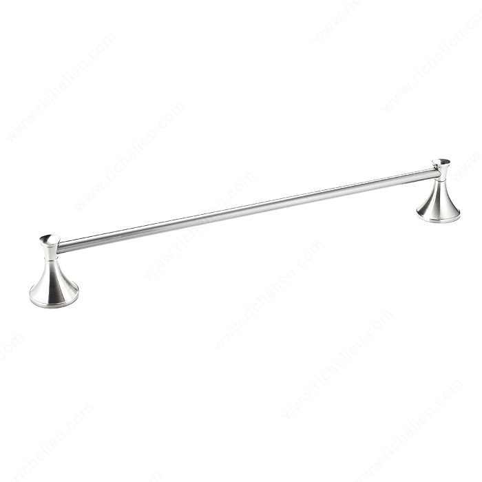"""Nystrom Towel Bar – Palermo Collection – 24"""" C/C – Brushed Nickel"""
