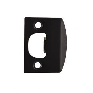 Discount Door Hardware Matte Black Strike Plate